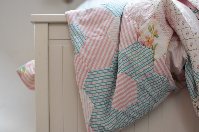 Laura Ashley Patchwork Quilt ThreeSonsLater.com